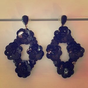 Fun black J Crew earrings